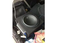 "15"" Car Subwoofer and Amp"