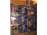 Job lot 2002 Star Wars Attack of the Clones action figures new in sealed boxes