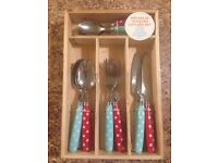 Brand New Cath Kidston 16 Piece Cutlery Set