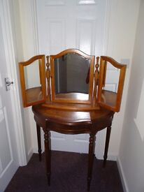 Solid wooden dressing table, stylish gift, very nice bargain.