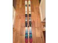 Line twin tip all mountain skis with line bindings