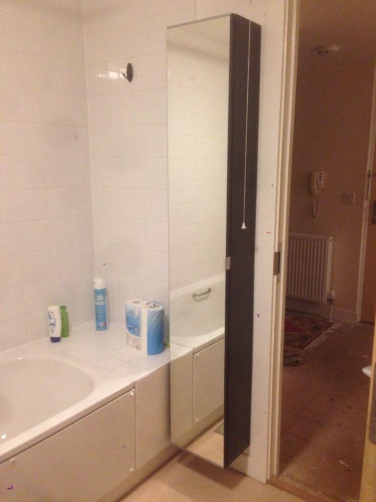 ikea wall mount cabinet in great condition w/ mirror door ...