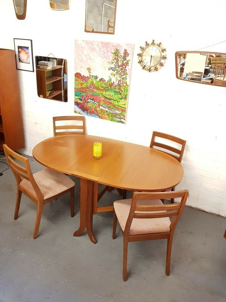 Vintage Drop Leaf Table Chairs Mid Century In New Cross London