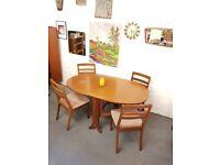 Vintage Drop Leaf Table Chairs Mid Century