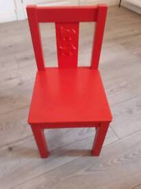 Child's Ikea wooden chair