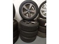 """16"""" TRANSIT CONNECT ALLYS JUST BN REFURBD ANTHRICITE GREY BRAND NEW WINTER TYRES NEVER TOUCHD ROAD"""