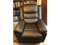 CareCo Rise and Recline Leather Chair, dual motor, Toronto model. Virtually new.
