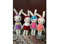 Crochet bunny 10 inches( £9 each)