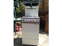 Gas Cooker with Eye Level Grill - Parkinson Cowan 1650, White, 50 cm wide