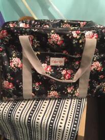 Black floral shopping bag colourlife london