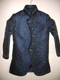 Boys Asian Sherwani Suit (Age 6) & Size 13 Matching Shoes