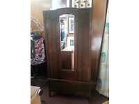 Vintage Wardrobe with Single Mirrored door
