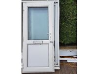** uPVC Double Glazed Front / Back White Door Ref D3