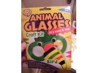 BIRD ANIMAL GLASSES CRAFT KIT TOY