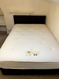 LUXURY WEAVE SIDE LIFT OTTOMAN STORAGE DOUBLE BED.