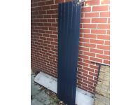 Black Vertical Flat Panel Designer Radiator