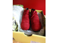 FLY LONDON WINE ANKLE BOOTS - SIZE 4 - BRAND NEW IN BOX