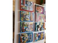 Selling a selection of kids dvds