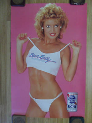 Sexy Girl Beer Poster Pabst Blue Ribbon PBR ~ Beer Belly Blonde