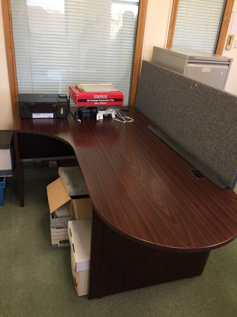 Office desk with mahogany finish