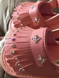 Swarovski baby girl shoes