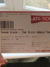 Shawn kush elvis show Edinburgh