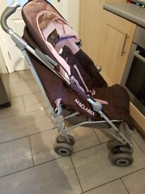 Maclaren techno xlr brown and pink stroller