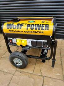 WOLF 3200 WATT DUAL VOLTAGE PETROL GENERATOR.