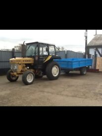 Ford 3910H Tractor & Tipping Trailer