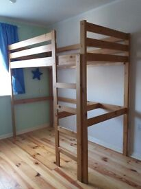 High Sleeper Loft Bed Rimini Antique Pine Frame