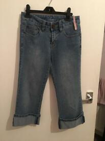 Ladies cropped jeans