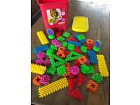 Stickle brick toy for children