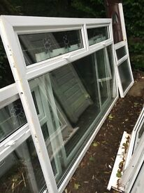 White upcv window with glass