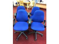 Blue office armrest office chairs