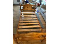 Solid Wood Pine Single Bed