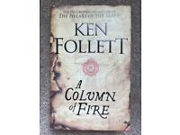 Ken Follett A Column Of Fire Hardback Book