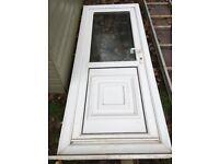 UPVC Half Glass Door