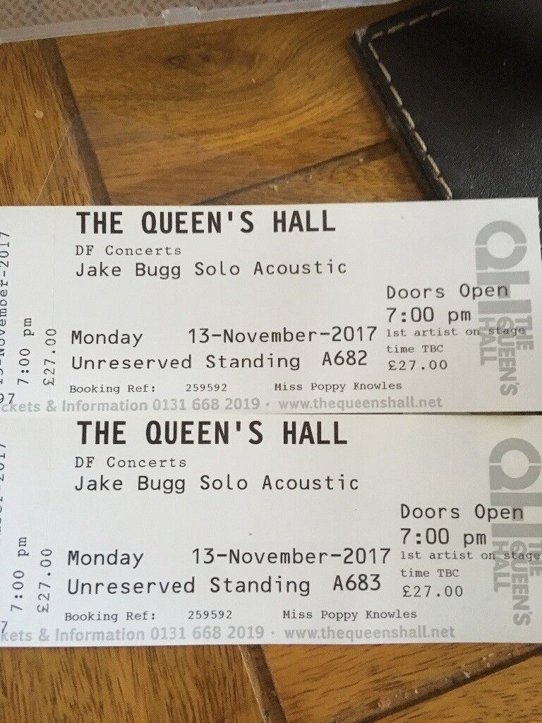 2 Jake Bugg tickets
