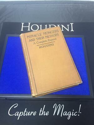 """Miracle Mongers and Their Methods"" by HOUDINI - Signed First Edition 1908"