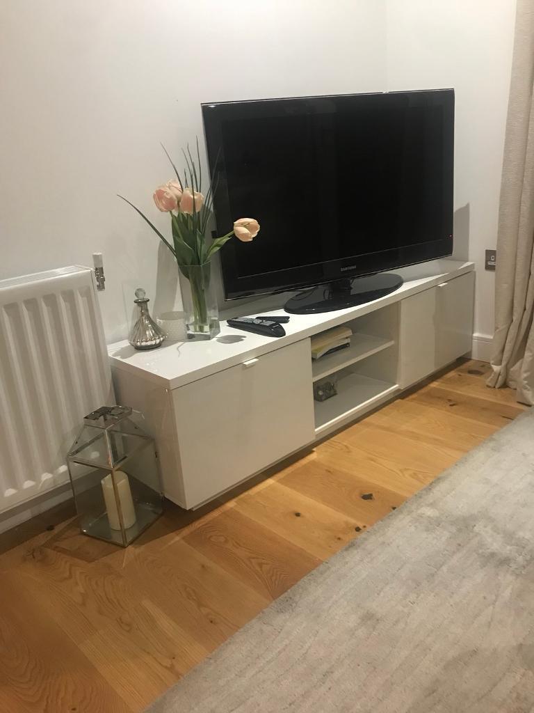 9c8c7e5bb40 Ikea BYAS tv bench white - media unit - tv stand