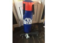 Punch bag with wall mounted bracket