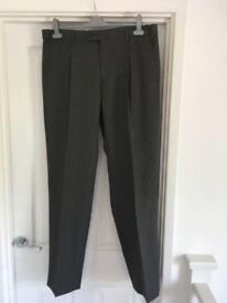 Men's Trousers Grey 36in waist 33in inside leg