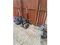 Bench and weights £40