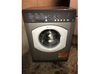 8KG Hotpoint HV8B593 Silver Washing Machine Fully Working with 4 Month Warranty