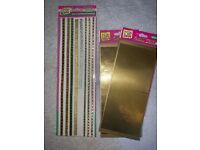 3 x Packs of Art Crafts Scrapbook Borders Outline Stickers IP1
