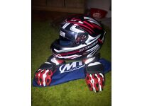 helmet and cover and gloves
