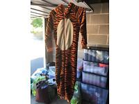 Tiger onesie sleep suit