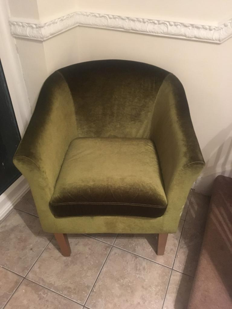 Small Velvet Tub Chair In Sunderland Tyne And Wear
