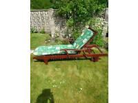 Wooden Garden Steamer Chair