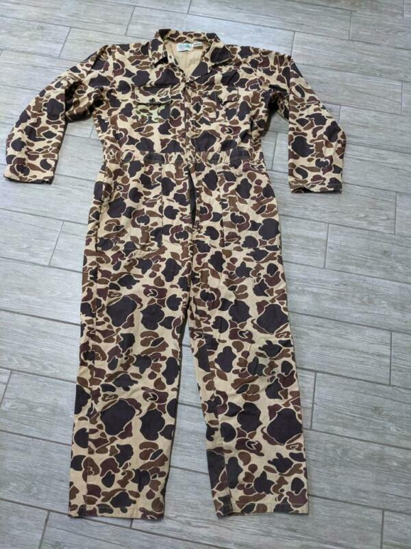 FROGSKIN vintage 1pc SUIT coveralls CAMOUFLAGE hunting XL woodland WILDERNESS
